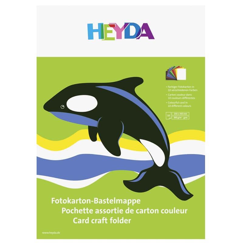 Pochette assortie de carton couleur loisirs creatifs 10 feuilles