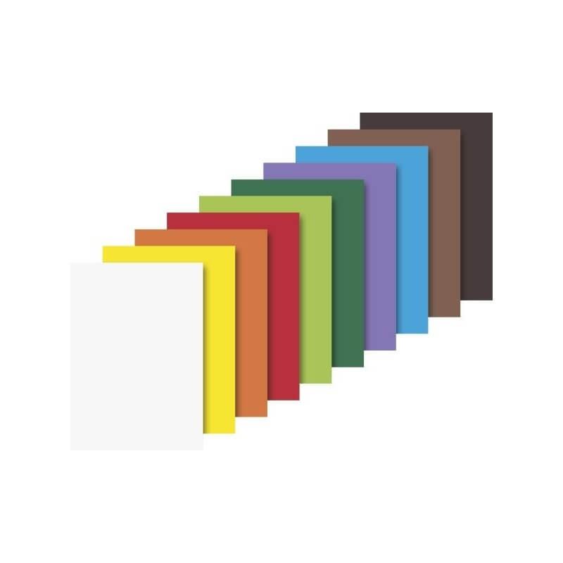 Pochette cartons loisirs creatifs 10 couleurs 25 x35 cm