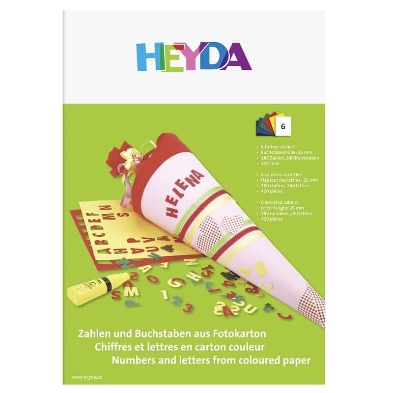 Pochette chiffres et lettres en carton couleur loisirs creatifs