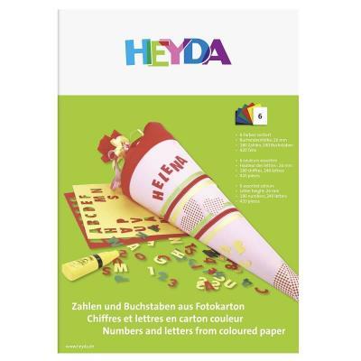 Pochette chiffres et lettres en carton couleur 420 éléments