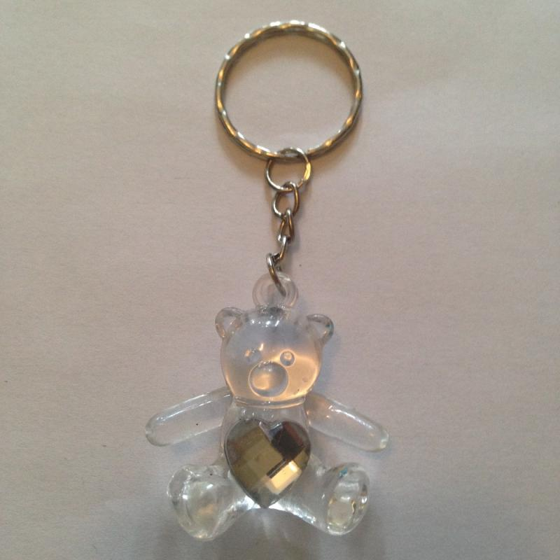 Porte cles ours blanc