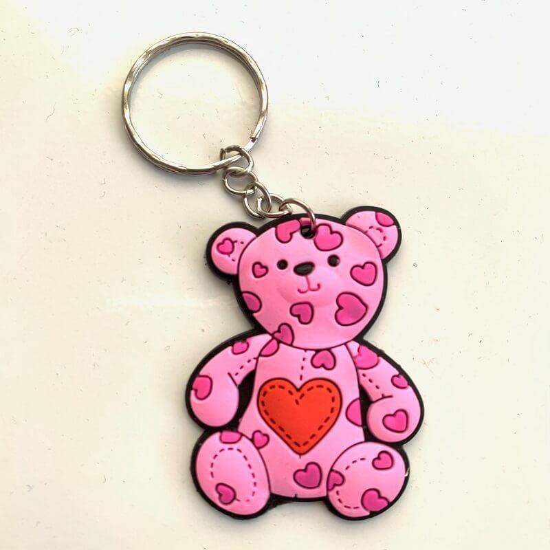 Porte cles ours coeur