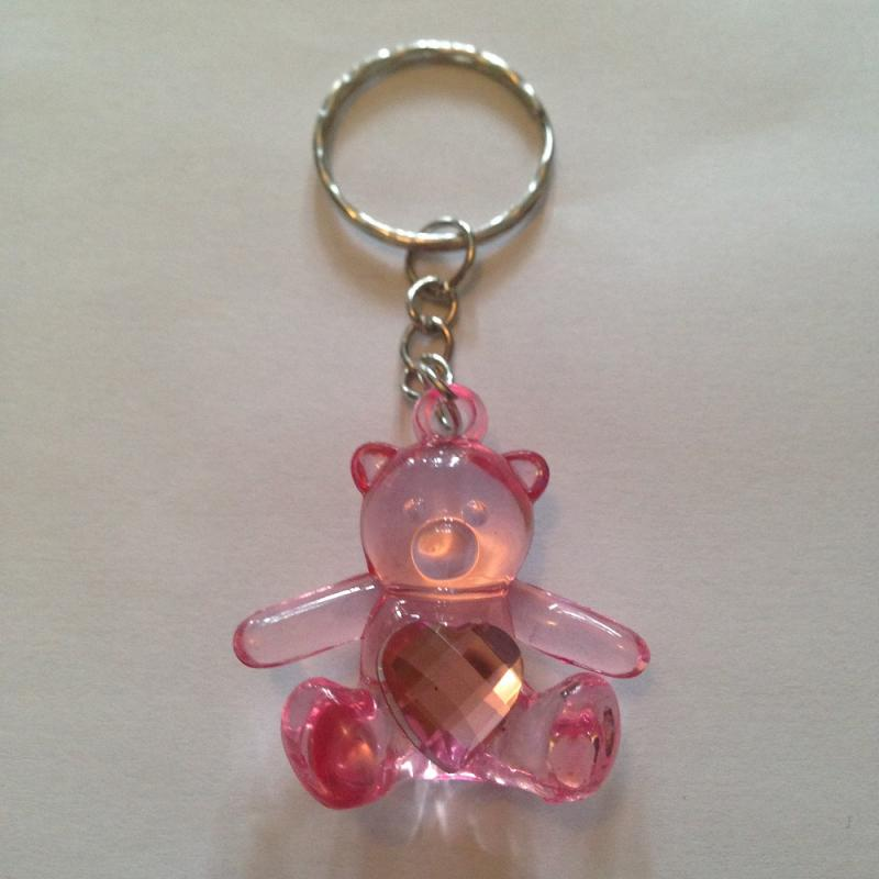 Porte cles ours rose