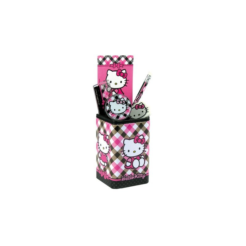 Pot a crayons fourniture scolaires hello kitty
