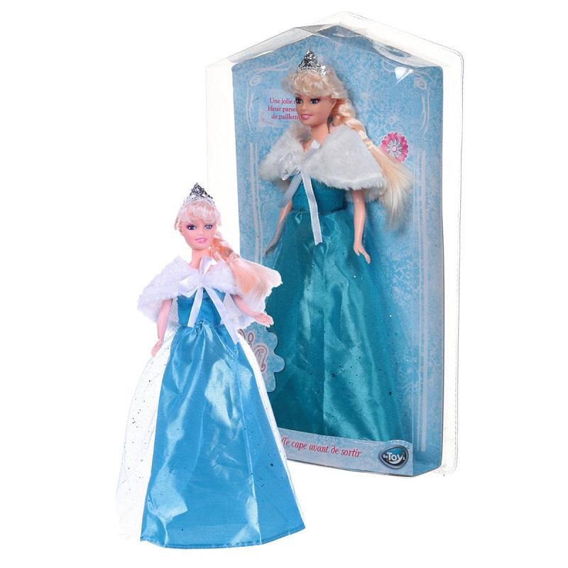 Poupee princesse lia robe bleue paillettes