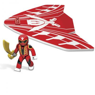 Planeur Power Rangers rouge Mega Blocks