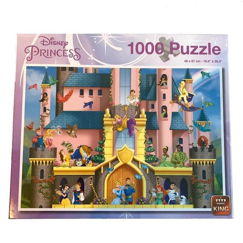 Puzzle 1000 pieces disney princesses king
