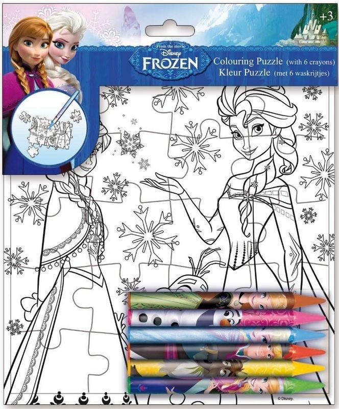 Puzzle a colorier la reine des neiges