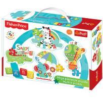 Puzzle animaux 4 en 1 enfant 2 ans trefl fisher price