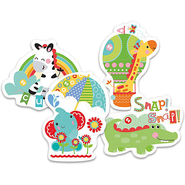 Puzzle animaux 4 en 1 enfant 2 ans trefl fisher price detail