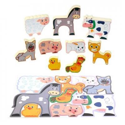 Puzzle animaux de la ferme play go pour enfants des 24 mois 1