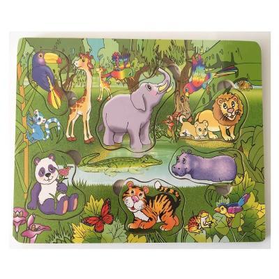 Puzzle en bois les animaux de la jungle