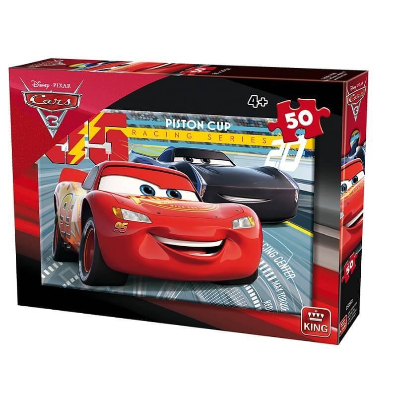 Puzzle cars 3 disney puzzle 50 pieces king international