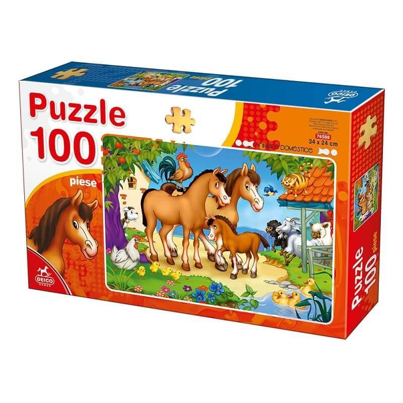 Puzzle chevaux et autres aminaux de la ferme 100 pieces