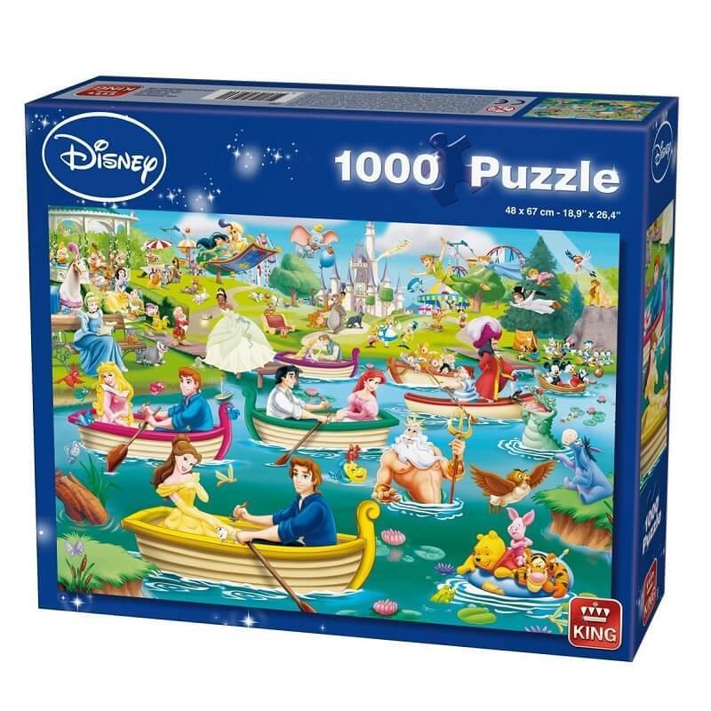 Puzzle disney 1000 pieces les plaisirs sur l eau