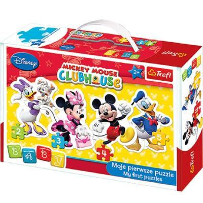 Puzzle Disney 4 en 1 avec Minnie, Donald, Mickey et Daisy