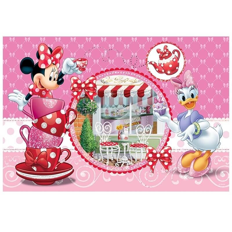 Puzzle disney minnie et daisy au salon de the