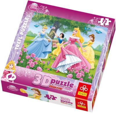 Puzzle Disney Princesses avec image en 3D