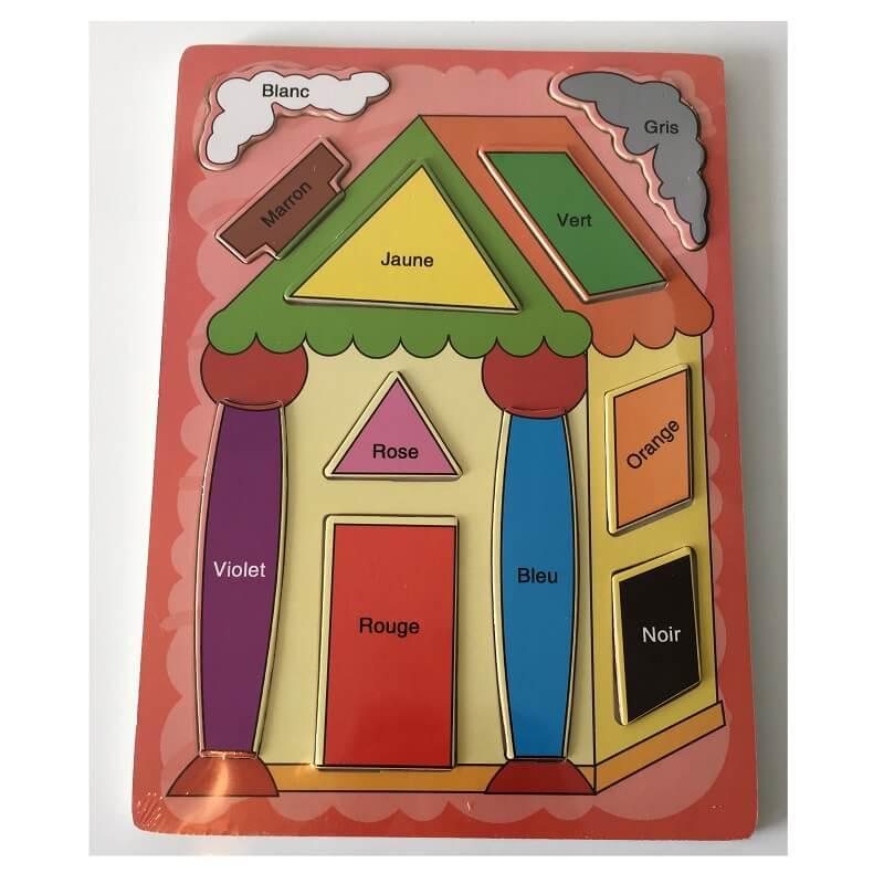 Puzzle educatif bois formes et couleurs