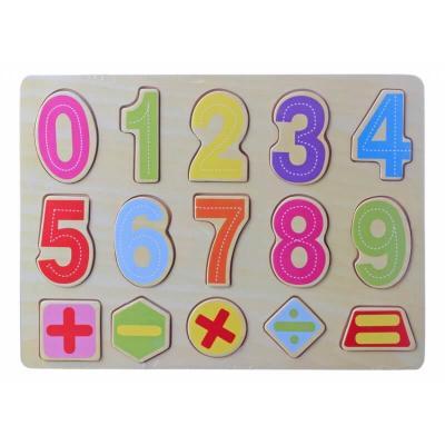 Puzzle enfant éducatif en bois pour apprendre les chiffres dés 24 mois