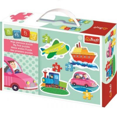 Puzzle enfant à partir de 2 ans - 4 en 1 - Les moyens de locomotion