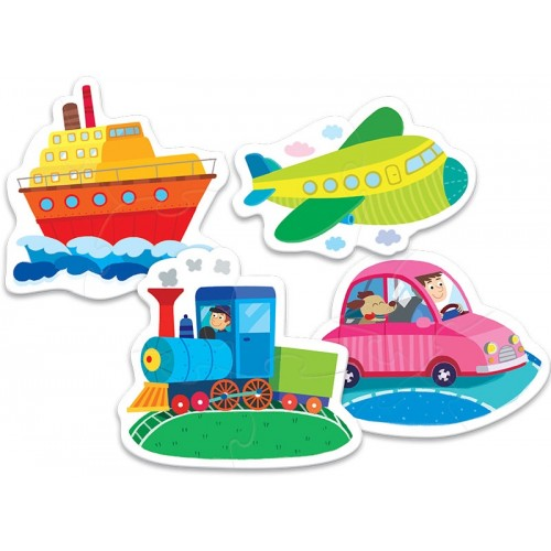 Puzzle enfant des 2 ans vehicules et locomotion trefl baby