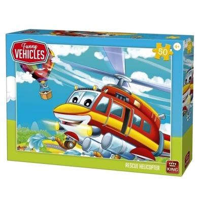 Puzzle hélicoptère de secours de 50 pièces