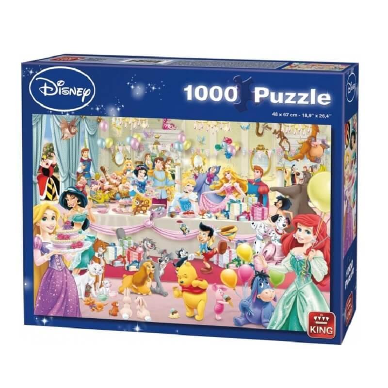 Puzzle joyeux anniversaire disney 1000 pieces