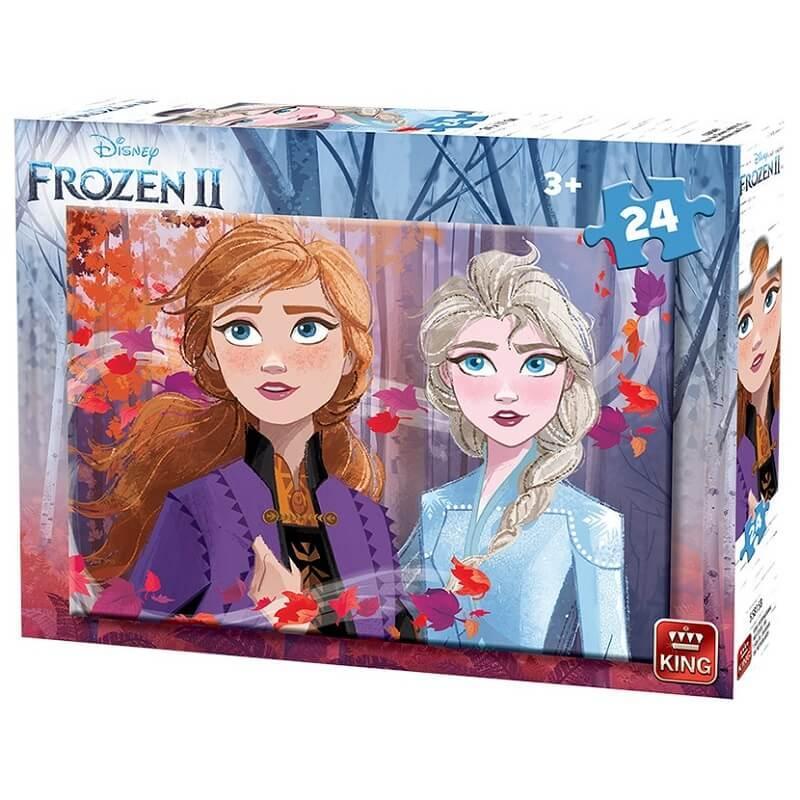 Puzzle la reine des neiges 2 de 24 pieces licence disney