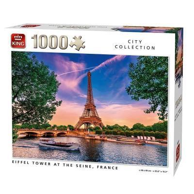 Puzzle la tour eiffel depuis la seine paris 1000 pieces