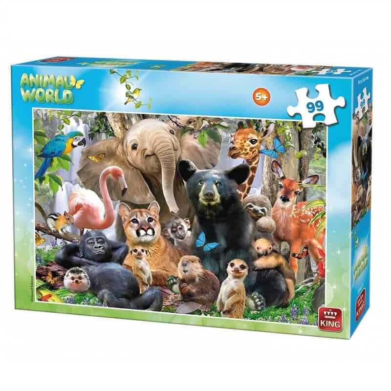 Puzzle le monde des animaux 99 pieces