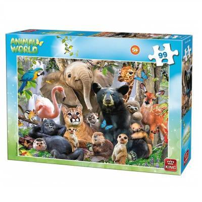 Puzzle le monde des animaux 99 pièces