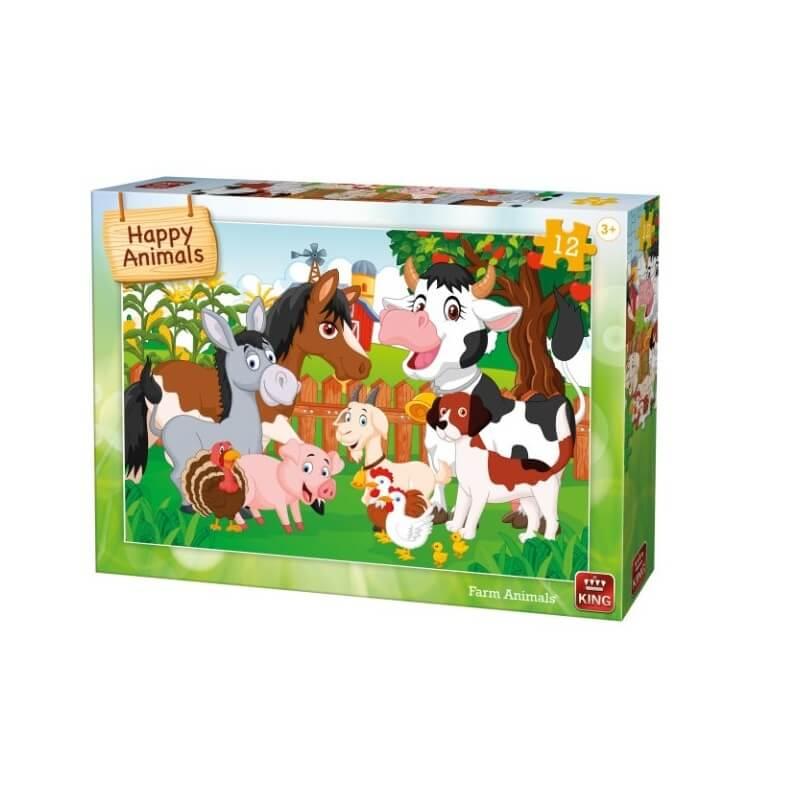 Puzzle les animaux de la ferme 12 pieces