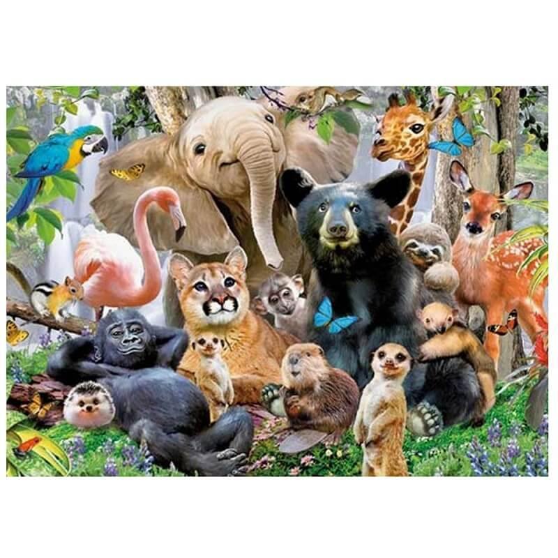 Puzzle les animaux de la jungle 1000 pieces