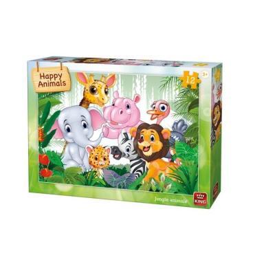 Puzzle les animaux de la jungle 12 pièces