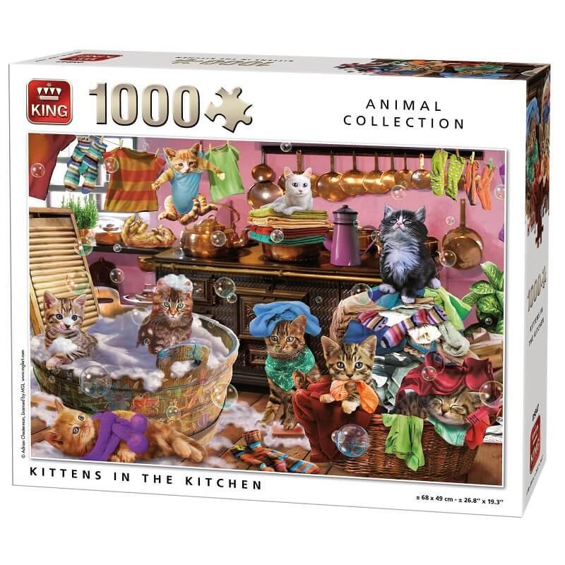 Puzzle les chats dans la cuisine 1000 pieces king