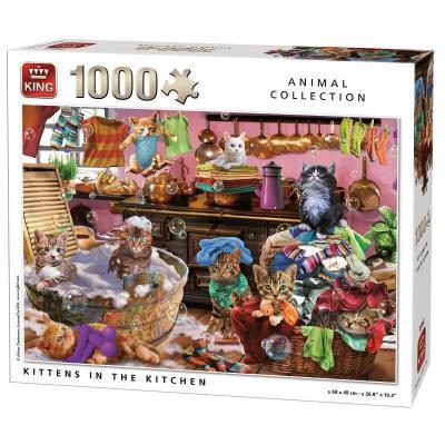 Puzzle Les chats dans la cuisine de 1000 pièces