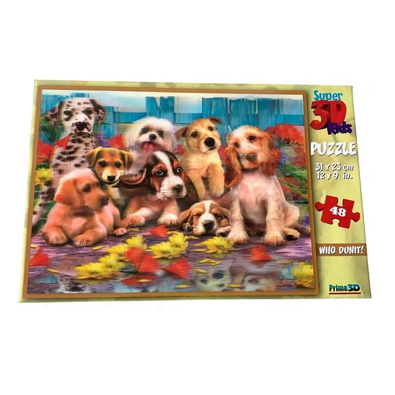 Puzzle les chiens image super 3d