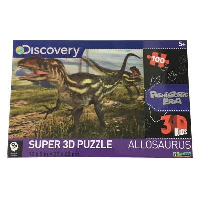 Puzzle les dinosaures image super 3D 100 pièces
