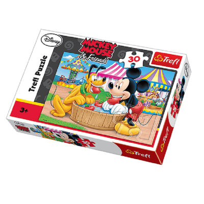Puzzle mickey et pluto 30 pieces