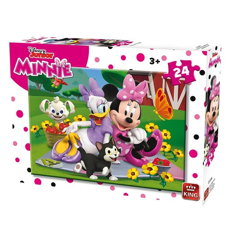Puzzle minnie disney 24 pieces king version a la campagne