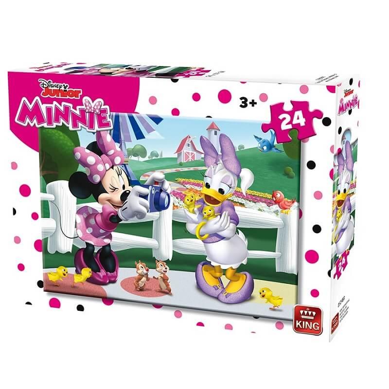 Puzzle minnie disney 24 pieces king version photographe