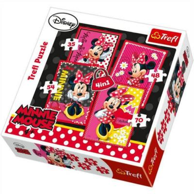 Puzzle minnie disney 4 en 1