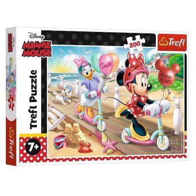 Puzzle Minnie et Daisy à la plage de 200 pièces