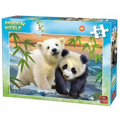 Puzzle panda et ours blanc de 99 pièces