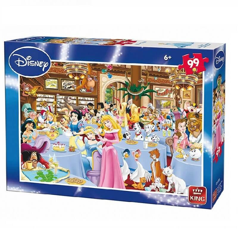 Puzzle personnages disney au salon de the