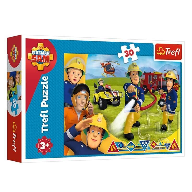 Puzzle sam le pompier 30 pieces trefl