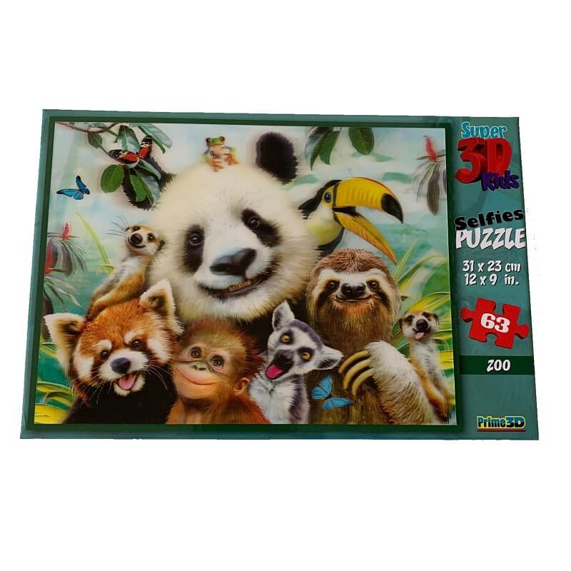 Puzzle selfie au zoo image 3d