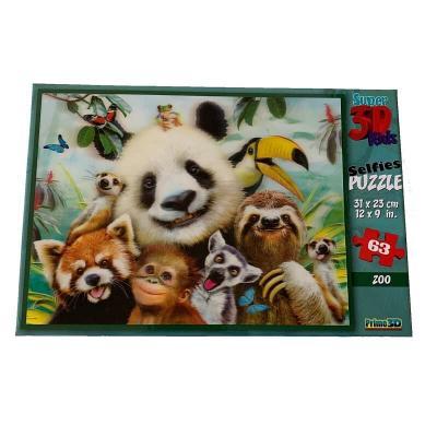 Puzzle selfie au zoo image super 3D 63 pièces