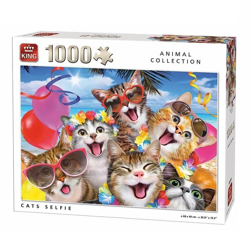 Puzzle selfie des chats 1000 pieces